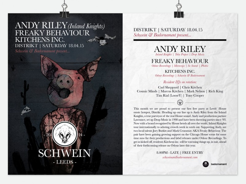 Andy Riley (Inland Knights) / Freaky Behaviour (Odour) & Kitchens Inc. @ Distrikt – 18/03/15