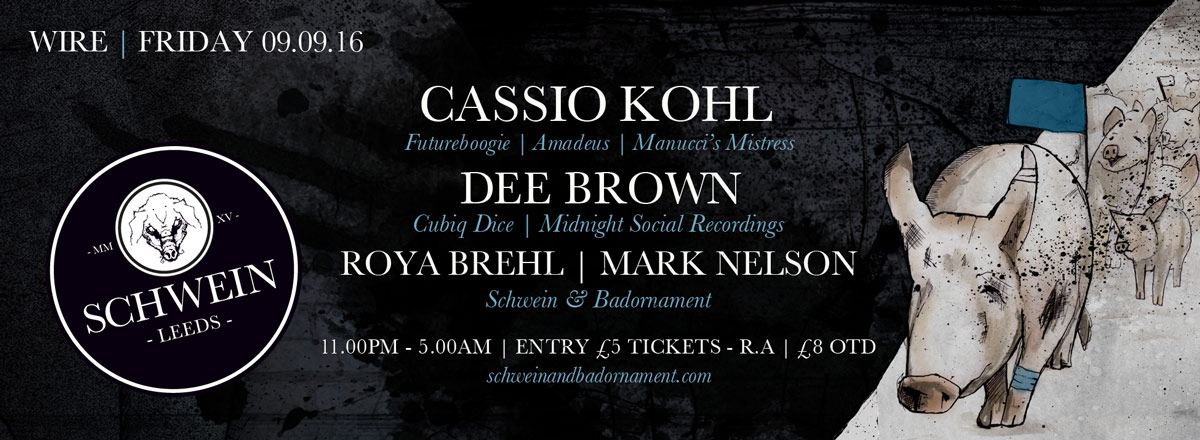 Cassio Kohl & Dee Brown at Wire – 9th September