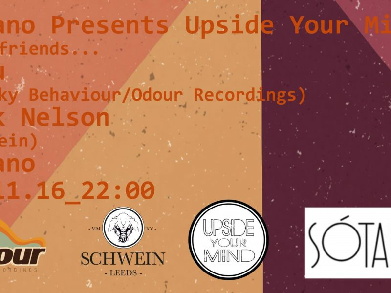 Sotano Presents Upside Your Mind with guests JoBu & Mark Nelson